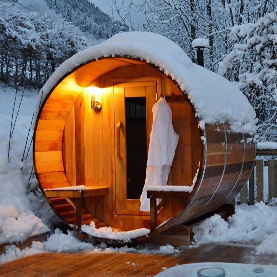 verdure outdoor barrel sauna