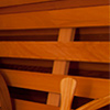 clear cedar wooden back support